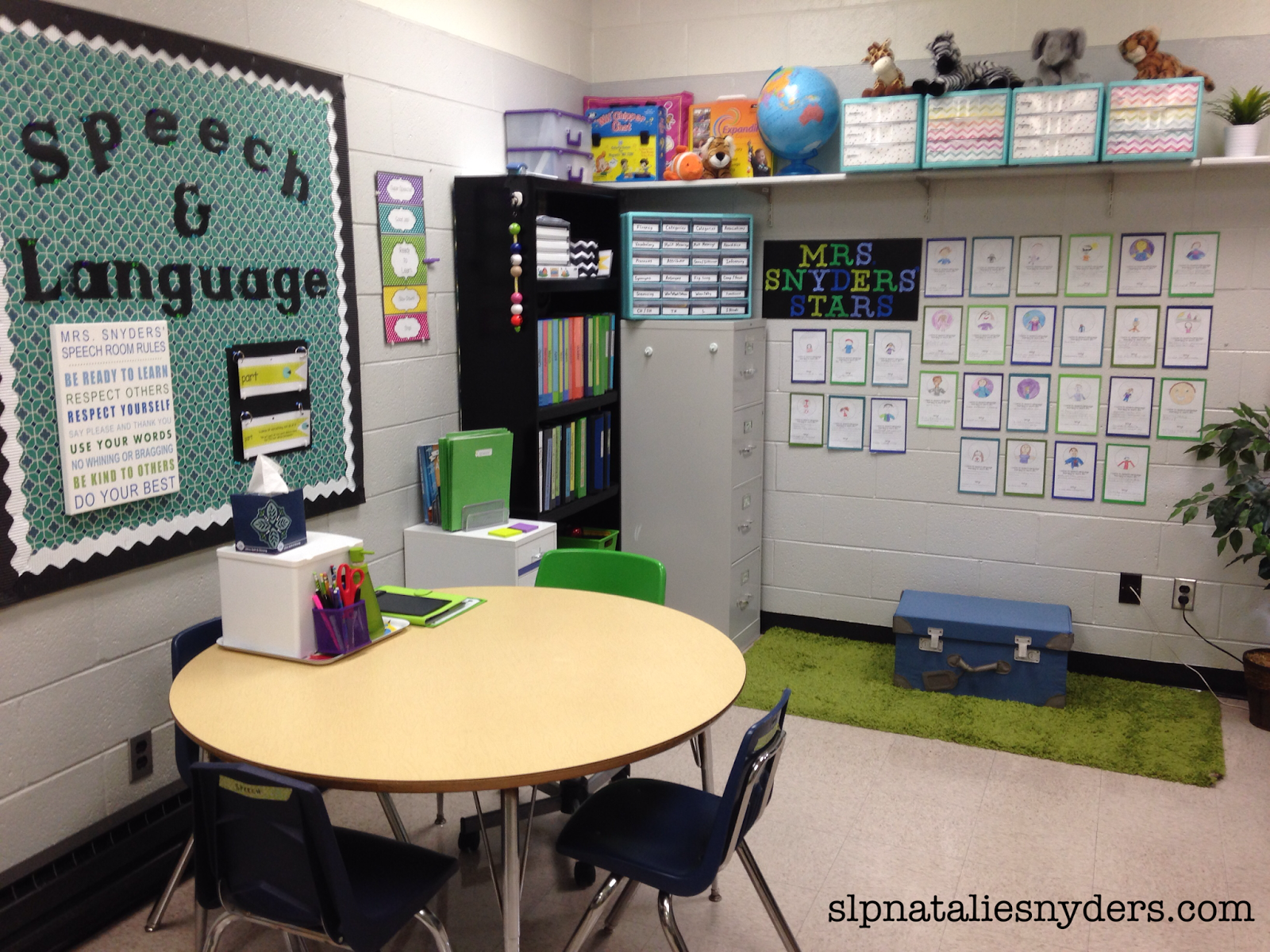 Language Classroom Decoration ~ Take a peek inside my speech language therapy room