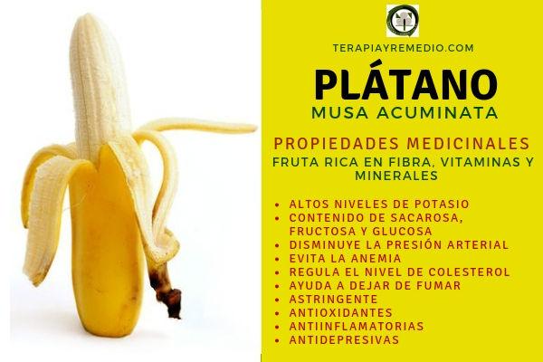 Las propiedades del plátano se destacan por su alto contenido en fibra, vitaminas y minerales.