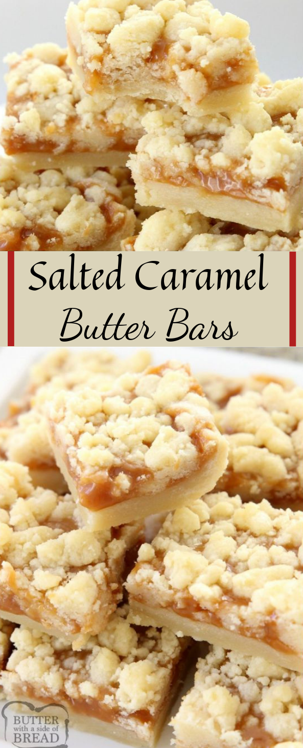 SALTED CARAMEL BAR RECIPE #caramel #bars