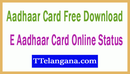 Aadhar Card Download Online Status at eaadhaar.uidai-gov-in