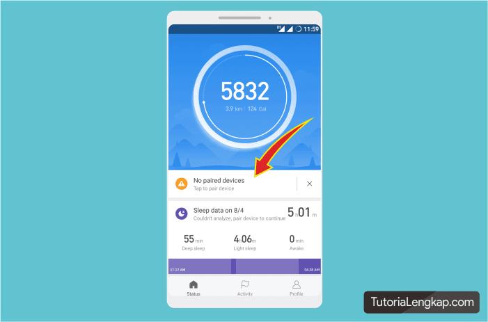 Menghubungkan MI Band 3 dengan hape android