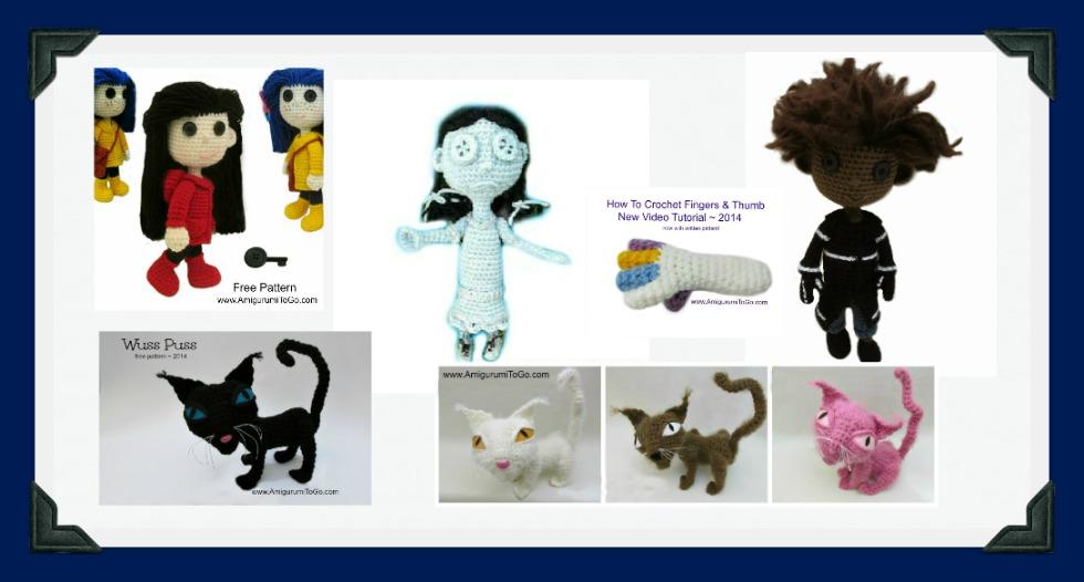 Coraline Wybie Black Cat Crochet Patterns All Free