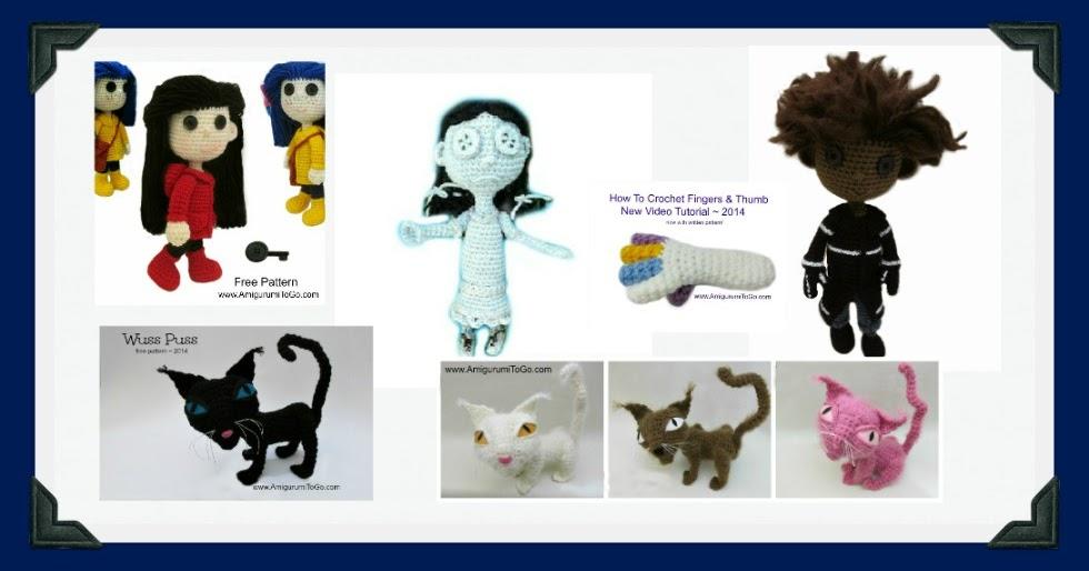 Coraline Doll Free Crochet Pattern Amigurumi To Go : Coraline Wybie Wuss Puss and Ghost Child Patterns ...
