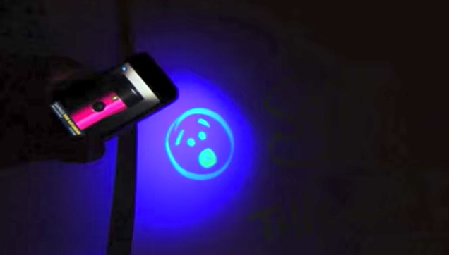 Convert your smartphone to blacklight