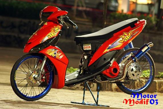 modifikasi mio j drag terkeren