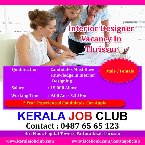 Interior designer job openings in kerala for Interior designer job opportunities