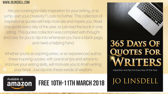 365 Days of Quotes for Writers is available for FREE 10th-11th March 2018.