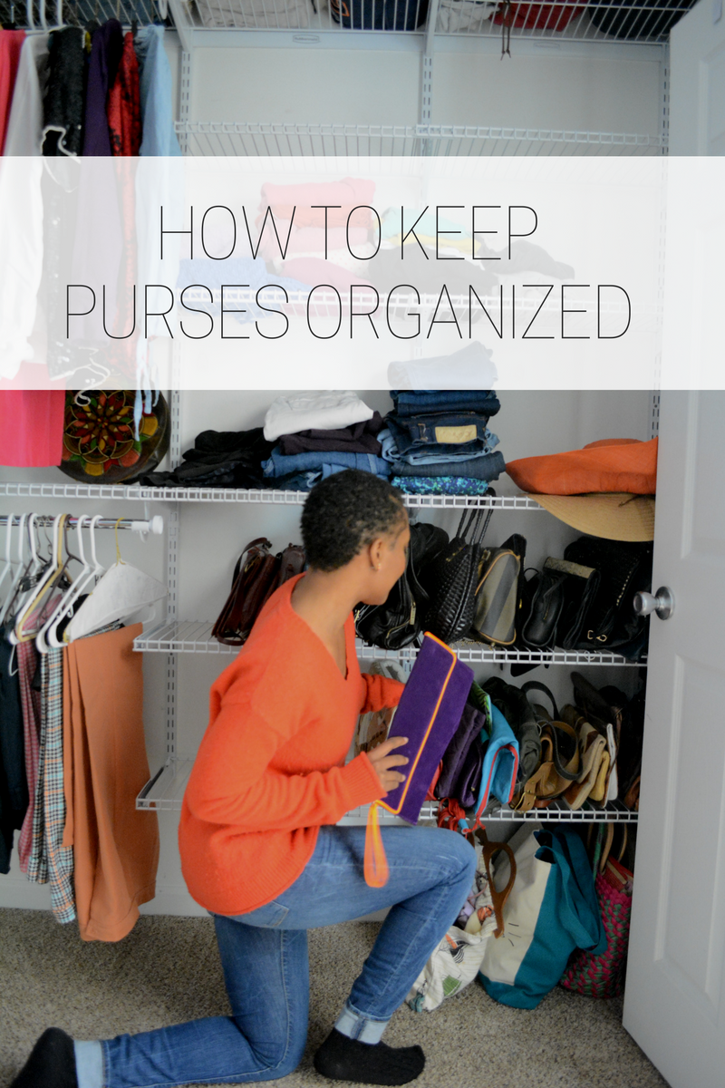 organize purses in closet with ease