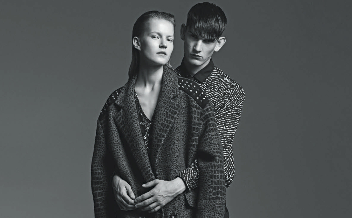 una coppia speciale: julia suszfalak and reece sanders by gregory derkenne for d la repubblica 4th october 2014