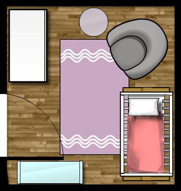 Small nursery floor plan layout