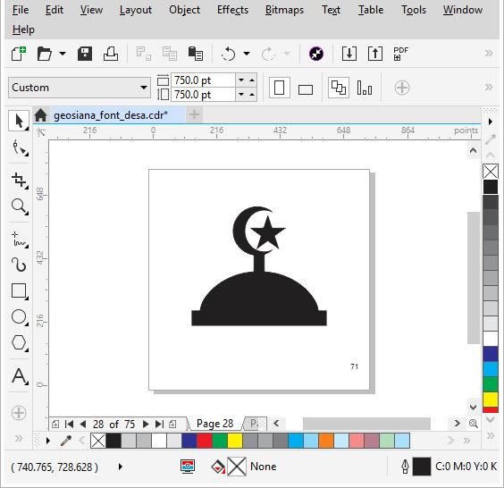 Membuat Simbol Marker TTF dengan CorelDraw