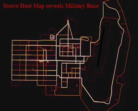Strava app showing image of military base in Afghanistan.