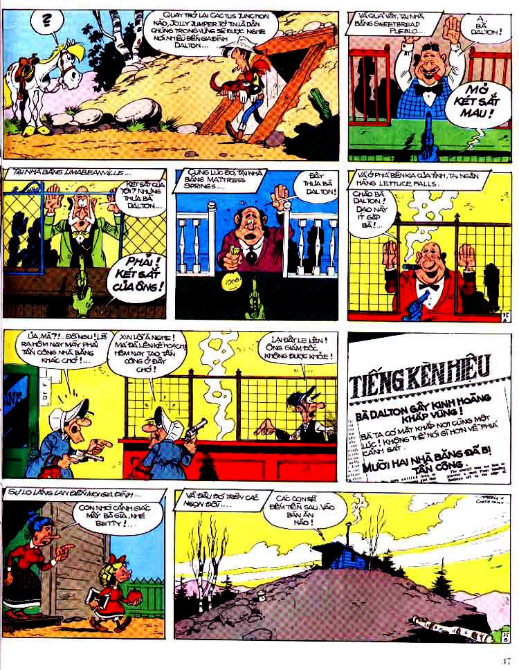Lucky Luke tap 15 - ma dalton trang 38