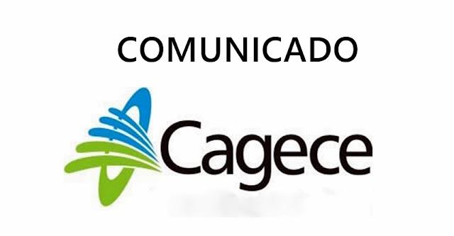 Comunicado da CAGECE para Chaval e Barroquinha