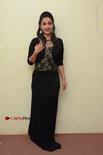 Telugu Actress Manasa Manohar Stills in Black Long Dress at Naku Nene Thopu Turumu Trailer Launch  0016.JPG