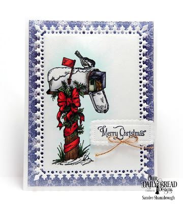 Out Daily Bread Designs Stamp Set: Christmas Note, Our Daily Bread Designs Paper Collection: Christmas Card 2016, Our Daily Bread Designs Custom Dies:Lavish Layers, Pierced Rectangles