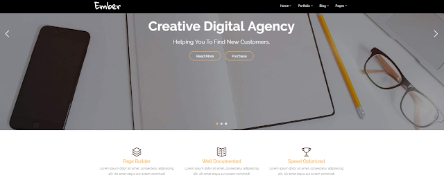 Ember - Digital Marketing Agency WordPress Theme for free