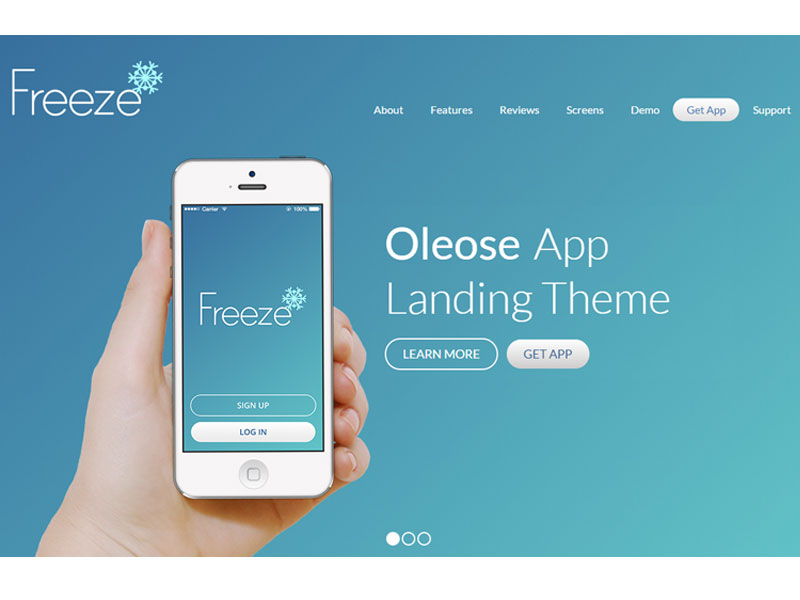 freedownloadtemplates: Collection Of 13 Best App Landing Page ...