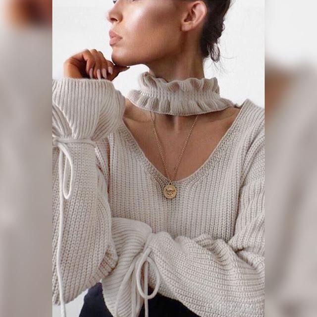 Γυναικείο μπεζ πουλόβερ ALDIS