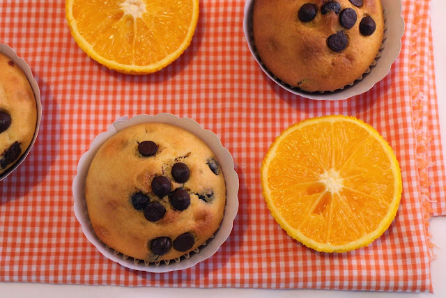 chocolate-chips-orange-muffins, muffins-de-naranja