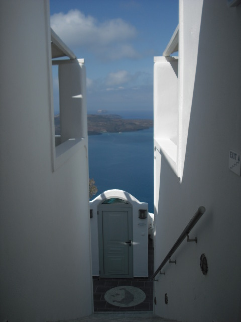 Agali Houses Santorin, Eingang zur Sunset Suite