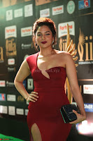 Natasha Nebasha in a Leg Slit Sleeveless Stunning Red Gown at IIFA Utsavam Awards 2017 063.JPG