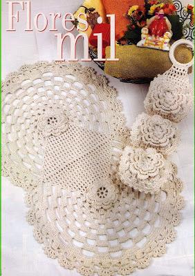 Juego de Baño tejido a Crochet