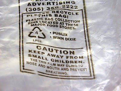 remove print from plastic bag