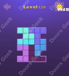 Cheats, Solutions, Walkthrough for Move Blocks Easy Level 120