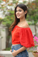Rhea Chakraborty in Red Crop Top and Denim Shorts Spicy Pics ~  Exclusive 203.JPG