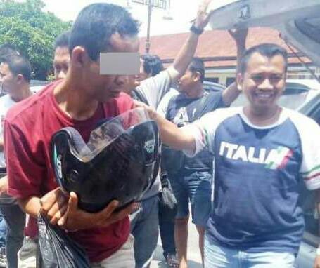 Tersangka pelaku pembunuhan di Binjai.