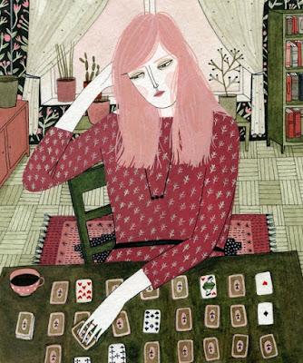 """""""Solitaire"""" por Yelena Bryksenkova   creative emotional illustration art drawings, pictures, deep feelings, sad   imagenes bellas, emociones sentimientos, depresión."""
