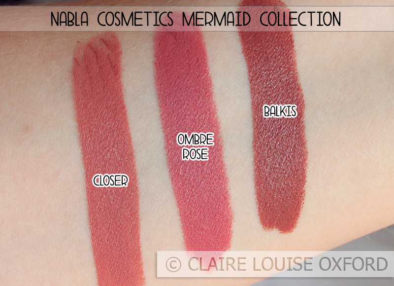 Nabla cosmetics mermaid collection preview swatches - Diva crime closer ...