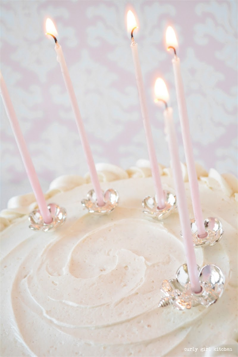 White Cake, White Velvet Cake, Wedding Cake, Silver Candle Holders, Silver Cake Topper, Candle Cake Topper, Buttermilk Cake