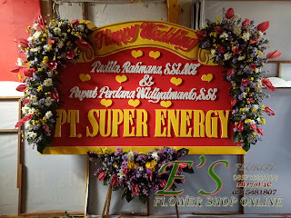 bunga papan wedding pt. super energy