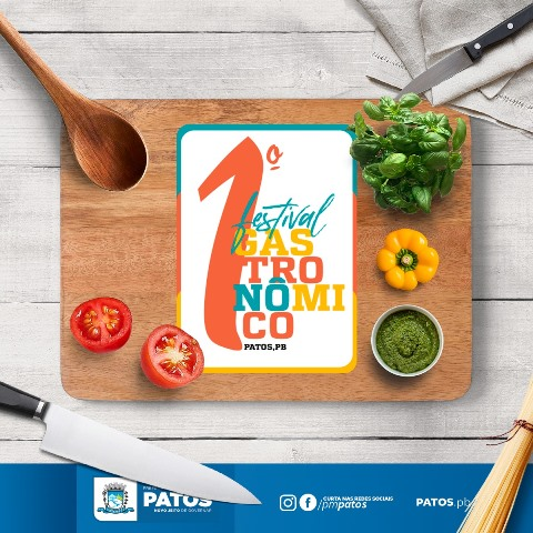 1° Festival Gastronômico será realizado a partir desta quinta feira (09) em Patos