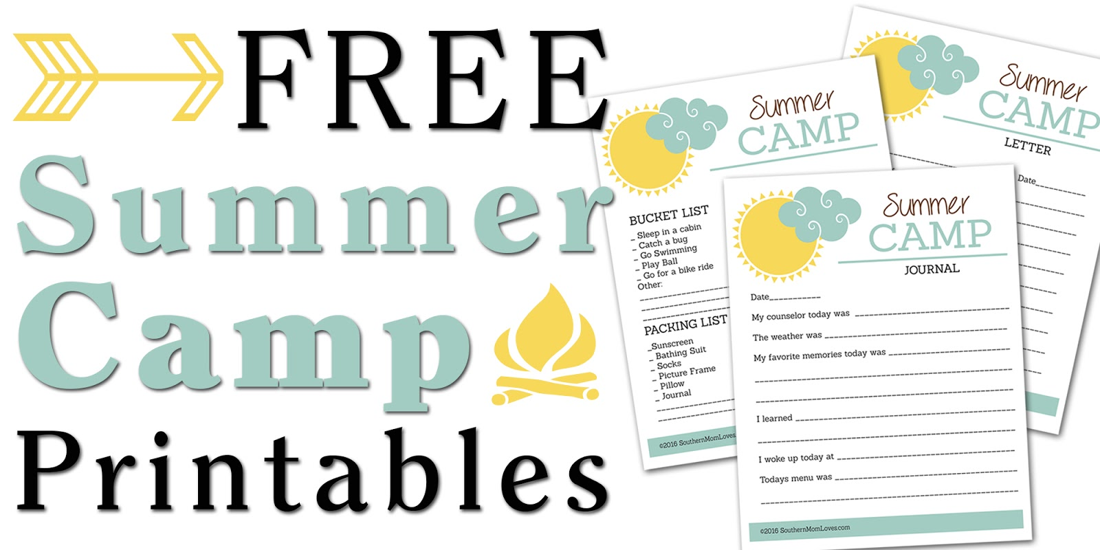 photograph regarding Summer Printable referred to as Southern Mother Enjoys: Absolutely free Summer months Camp Printables for Children!