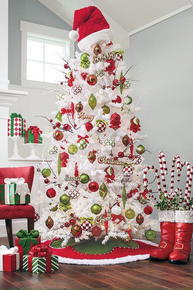 5 ideas para decorar rboles navide os blancos - Como decorar arboles de navidad color blanco ...