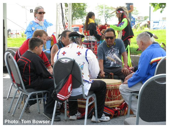 Native American Drum Circle | Seven Springs | Navy Pier in Chicago | Photo by Tom Bowser