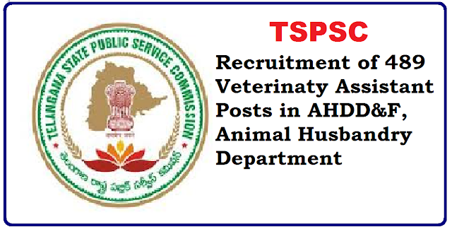 Veterinaty Assistant 489 posts recruitment by TSPSC in AHDD&F,Animal Husbandry Department Telangana State Government has given permission to fill up four hundred and eighty nine 489 vacancies of veterinary Assistants through direct recruitment by Telangana State Public Service Commission|Government of Telangana State| GO No 73 DT 2-6-2016 Public Service Recruitments-Veterninary Assistants|Filling of 489 vacant posts through Direct Recruitment|Permission to the Telangana State Public Service Commission -orders-issued/2016/06/veterinaty-assistant-489-posts-recruitment-in-AHDD-F-animal-husbandry-department.html