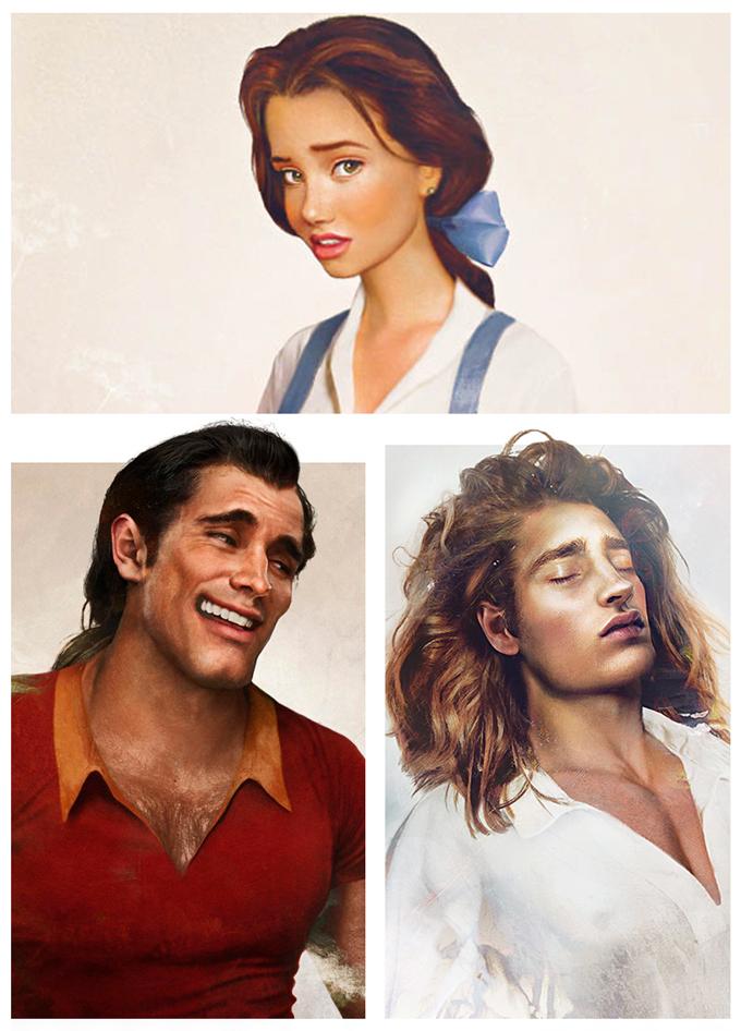 real life disney character Beauty and the Beast персонажи Дисней в реальной жизни Красавица и Чудовище