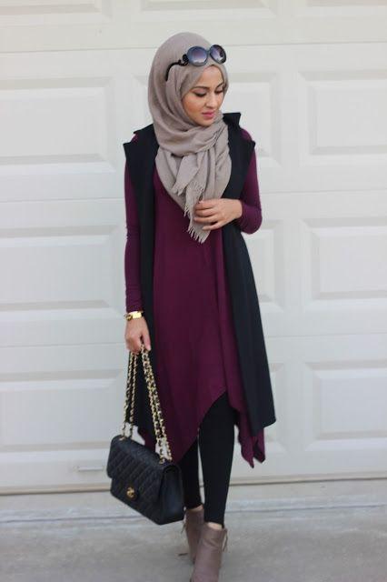 30 Gaya Fashion Hijab Casual Terbaru 2018