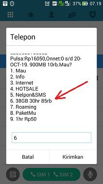 Paket Internet Tri 38GB Rp85.000 Berlaku 30 Hari