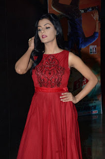 Actress Anisha Ambrose Latest Stills in Red Long Dress at Run Movie Audio Launch  0012