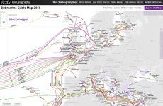 Submarine Cable Map 2018: mapa online actualizado de cables submarinos