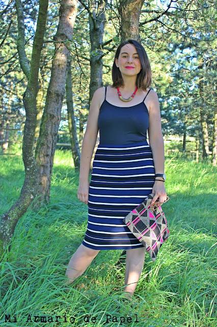 Combinar Falda de Tubo Zara Rayas