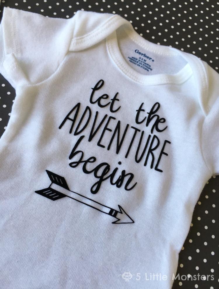 bdf6e2ab4d79 5 Little Monsters  Let the Adventure Begin Onesie