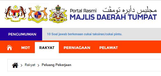 Rasmi - Jawatan Kosong (MDT) Majlis Daerah Tumpat 2019