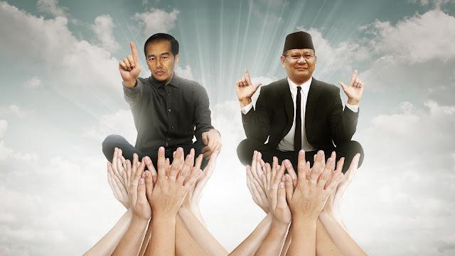 Survei Rumah Demokrasi: Prabowo-Sandi 44,45%, Jokowi-Maruf 40,30%