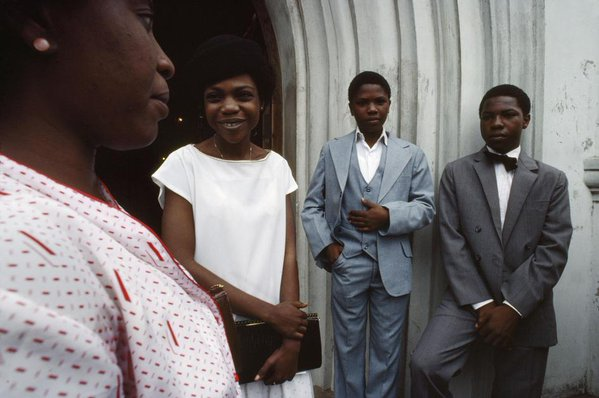 Throwback picture of how Nigerians dress to church in the 1980s